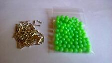 100 RIG CRIMPS PLUS 100 GREEN 6M/M BEADS TACKLEBOX FILLER