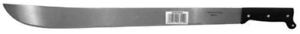 "Tramontina 24/"" Machete with Textured Black Plastic Handle"