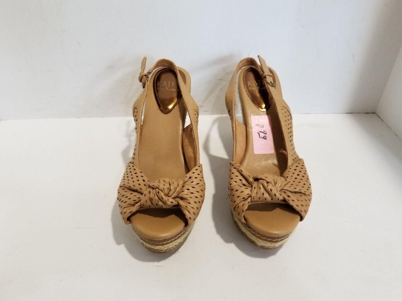 Kathy Wedge Van Zeeland Womens Tan Wedge Kathy Sandals Size 9.5 M cc4231