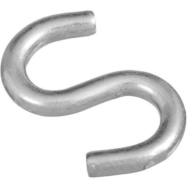 50 Pk Steel Zinc Plated 2  Heavy Open S Hook 2 Pk N121665