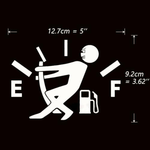 Fashion funny Fuel Tank Pointer Funny Pull To Full Vinyl Car Sticker Decal HOT
