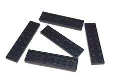 5x 3034 Lego Platte 2x8 schwarz gebraucht 303426