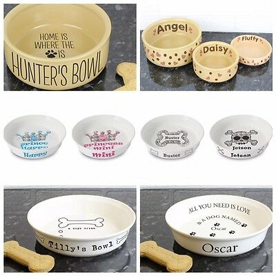 Personalised Dog Cat Puppy Kitten Food Water Bowl New Pet