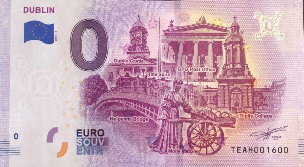 100% De Qualité Billet 0 Euro Dublin The Spire Irlande 2019-1 Numero 1600