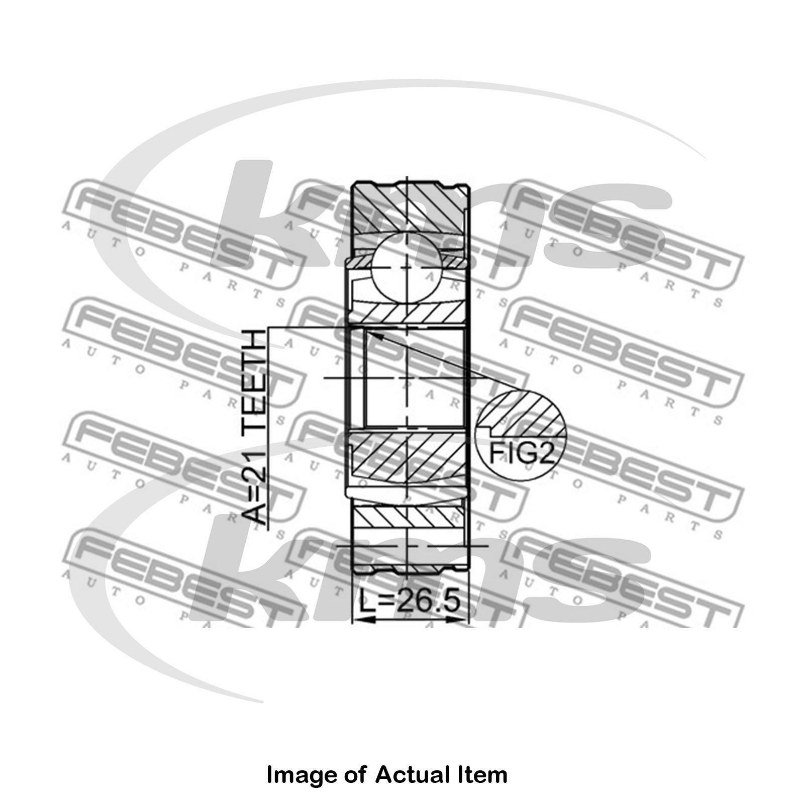Replacement Parts Joint Shaft Assembly 21X74 Febest 0711-JB416SHA ...