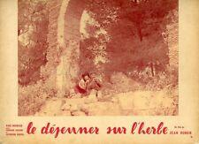 CATHERINE ROUVEL  LE DEJEUNER SUR L'HERBE 1959 VINTAGE LOBBY CARD ORIGINAL #1