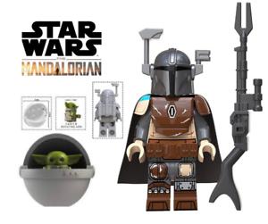 Starwars The Mandalorian Minifigure And Baby YoDa Buliding Blocks USA Seller