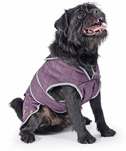 Ancol Muddy Paws Purple Damson Barker Quilt Dog Coat Jacket