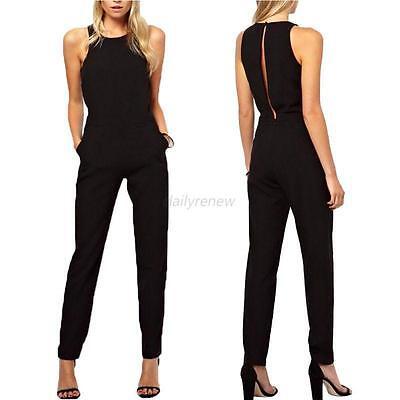 Women Ladies Clubwear Playsuit Bodycon Party Jumpsuit Romper Long Pants Trousers