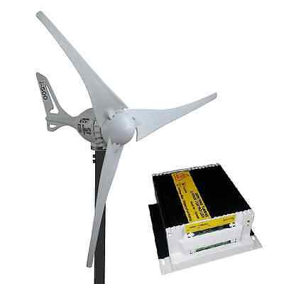 Set 12v i-500 Windgenerator inkl. Laderegler White Edition