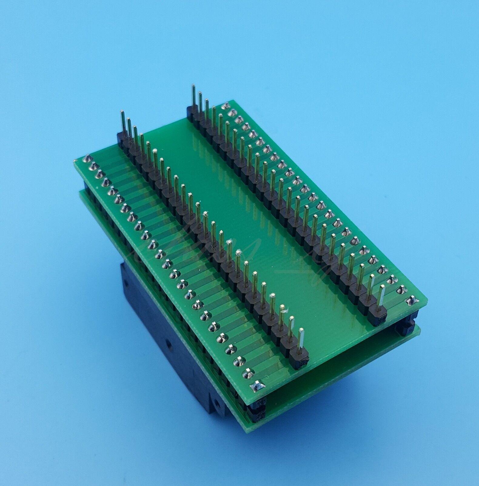 1PCS TQFP48 QFP48 To DIP48 SA248 IC Programmer Adapter Clamshell Test Socket  CA
