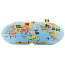 Magnetic world map geography puzzle interactive educational wooden world map flag matching puzzle geography educational toy w 36 flags gumiabroncs Image collections