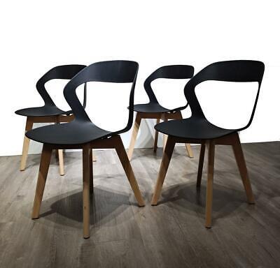Set 4 sedie vuota gambe in legno sedie nordiche sala da ...