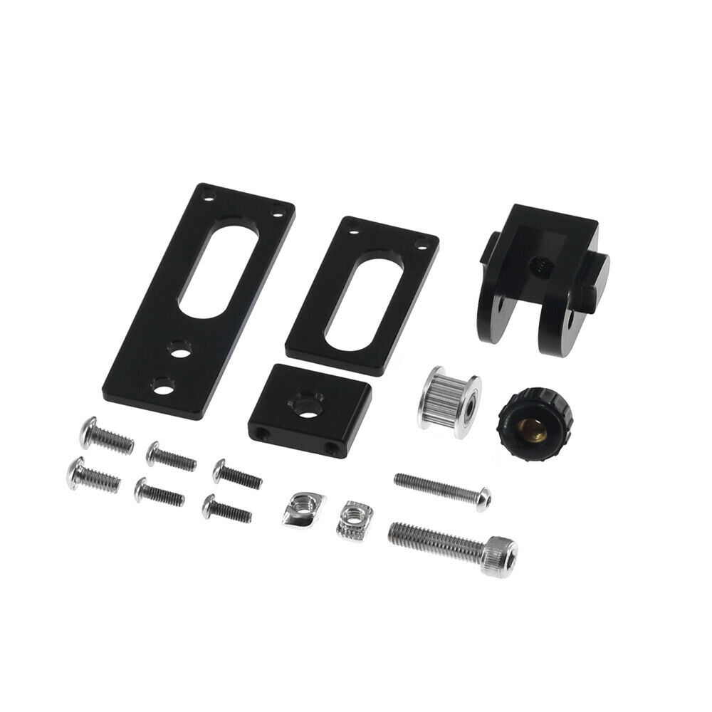 Black 2020 Profile X-axis Synchronous Belt Stretch Straighten Tensioner for 3D P
