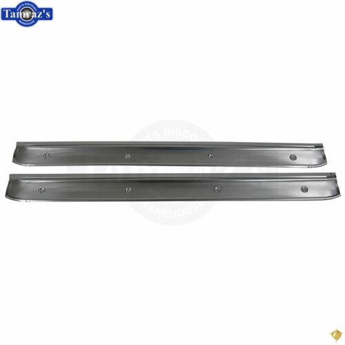 68-70 Mopar B-Body Interior Door Sill Trim Scuff Plates Golden Star PAIR