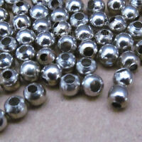 500pc 4mm Stainless Steel Beads Round Ball Spacer Beads Wholesale SA0169B