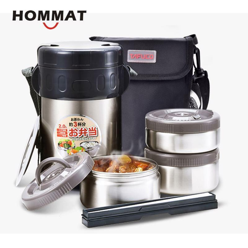 Japanese Double Wall Stainless Steel Food Thermos Insulated Lunch Box Vacuum Foo