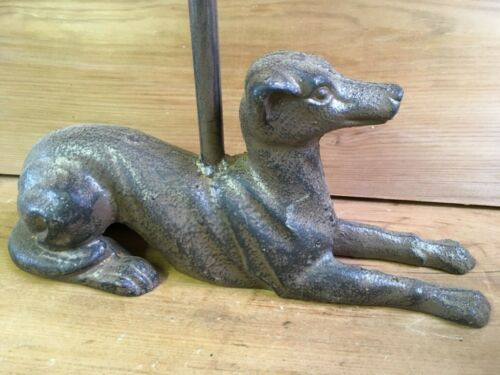 """Whippet Dog Cast Iron Door Stop With Long Handle 18 1//2/"""" High"""