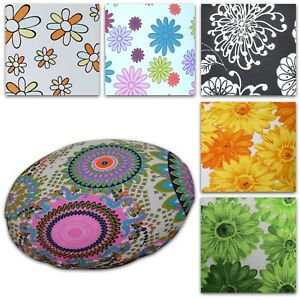 Flat Round Shape Cover*Aster Cotton Canvas Floor Seat Chair Cushion Case*AF4