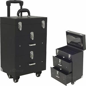 Image Is Loading Rolling Manicure Beauty Trolley Case Organizers Storage Holds