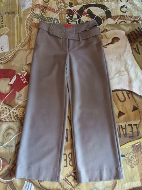 NEW VIVIENNE WESTWOOD RED LABEL WIDE LEG FLANNEL TROUSERS TAUPE WOOL SIZE 44