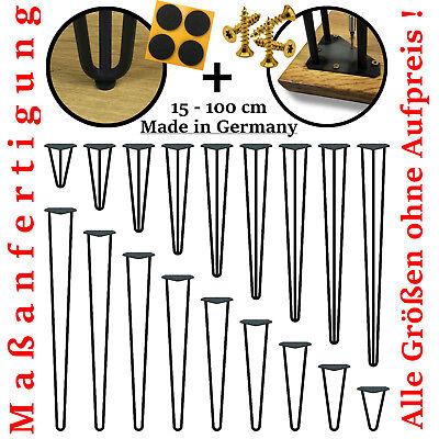 4x Hairpin Legs Tischbeine Haarnadelbeine Esstisch Stützfuß 3 Streben Tischkufen