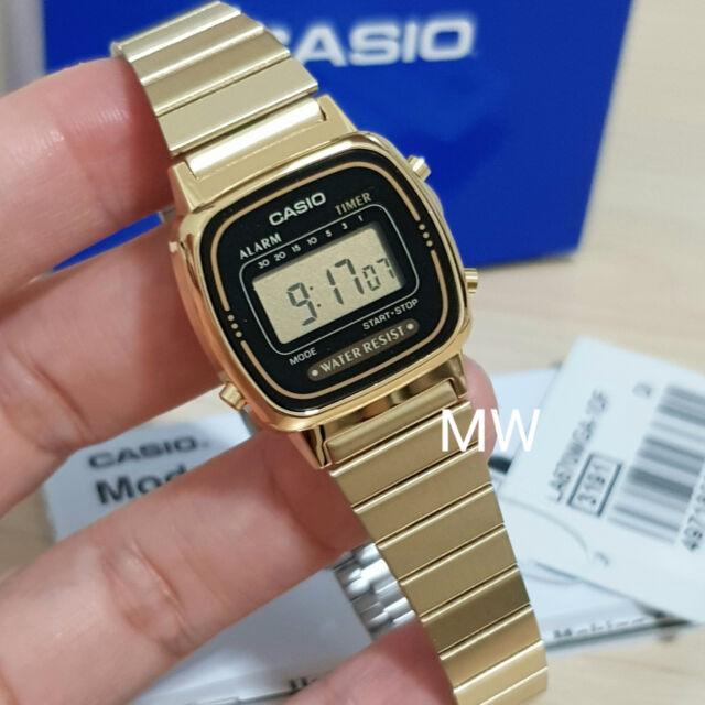 Latest Casio Womens Gold Tone Digital Fashion Watch LA670 LA670WGA-1U Alarm NEW