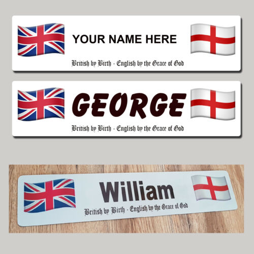 England St George Trucker Tractor SHOW NAME PLATE British Sign English Show HGV