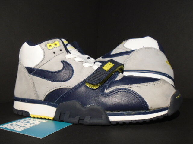 2000 Nike Air Trainer Trainer Trainer 1 WHITE OBSIDIAN NAVY blueE GREY YELLOW BLACK 679039-141 9 255646