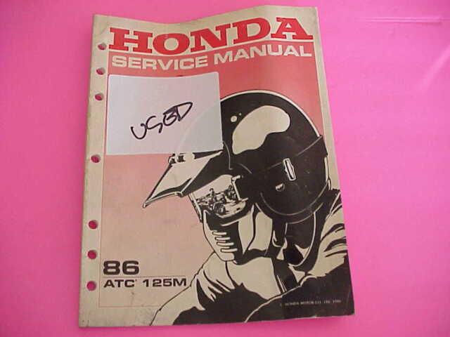 1986 Honda Atc125m Atc125 Service Manual Sm8