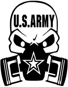 Details About Us Army Military Gas Mask Ranger American Decal Vinyl Sticker Ranger Yeti Cup