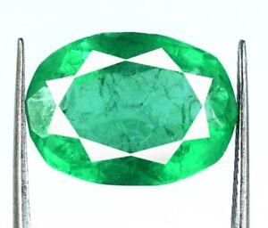 Zambian-8-10-Ct-Green-Emerald-Jewelry-Making-Gemstone-Natural-Oval-AGI-Certified