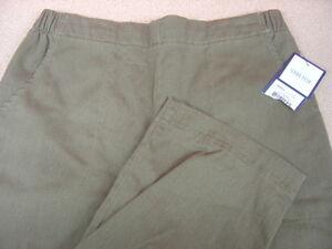 Women-039-s-CROFT-amp-BARROW-Brown-Flat-Front-Elastic-Waist-Pants-Size-6P-NWT