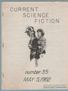 CURRENT-SCIENCE-FICTION-35-sf-fanzine-RICHARD-BERGERON-Bill-Benulis-stf-1952