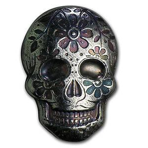 2 Oz Silver Skull Monarch Precious Metals Day Of The