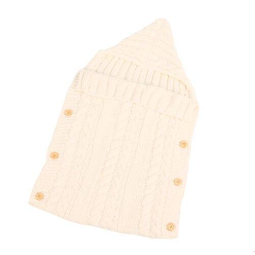 Baby Newborn Hand Knitted Blanket Swaddle Sleeping Bag Sleep Sack Stroller Wraps