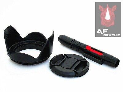 FP82a 40.5mm Lens Hood + Cap + Lens Pen for Sony Alpha A5000 A6000 16-50mm Lens