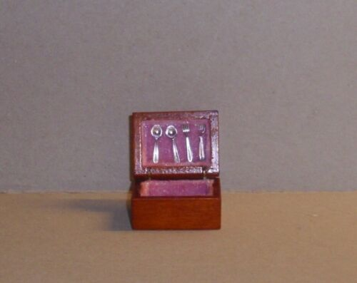 Couverts encadré-Acajou-miniature maison de poupée Miniature De 1:12