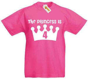Image Is Loading Princess 4 NEW T Shirt 4th Birthday