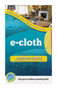 NEW! E-CLOTH Polyester / Polyamide Dusting Cloth 2-Pack 10607