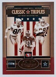 2005 Donruss Classics Largent / Rice / Irvin #CT8 Classic Triples Gold 17/75 NM+