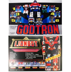 Voltron 1980 Die-Cast Godtron Godtron Godtron Six God Combination Godmars & Lionbot Taiwan Ver cd5f2a
