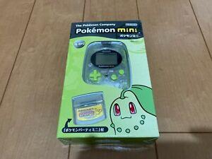 Pokemon-mini-Console-CHICORITA-GREEN-BOX-and-Manual-Brand