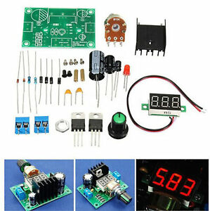 LM317 Digital Display Adjustable Regulated Power Supply Board Module DIY Kits