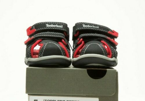 TIMBERLAND TODDLER/'S ADVENTURE SEEKER CLOSED TOE 3484A BLACK//RED