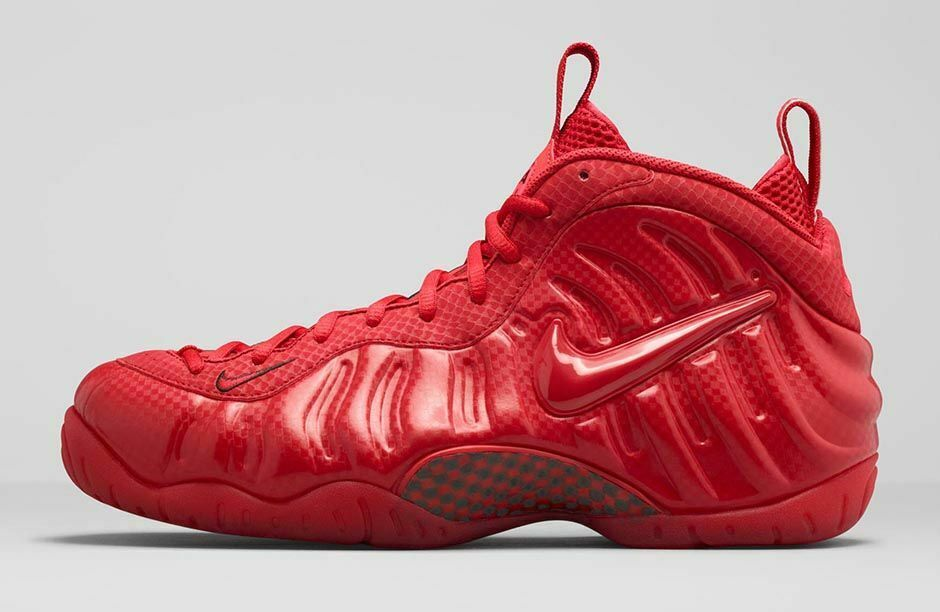 2014 Nike Air Foamposite Pro SZ 9 Gym Red October Yeezy Penny One 624041-603