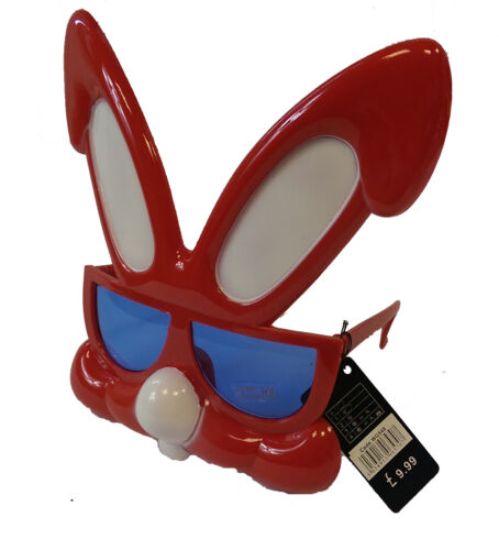 Red Yellow Easter Bunny Rabbit Fun Sunglasses Fancy Dress Glasses