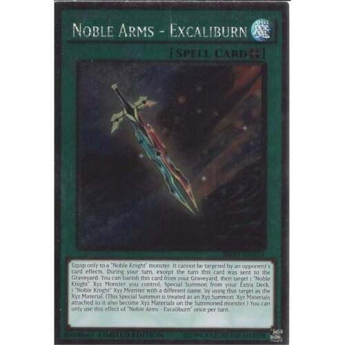 Excaliburn Yu-Gi-Oh Noble Arms Limited Edition NKRT-EN023 Platinum Rare
