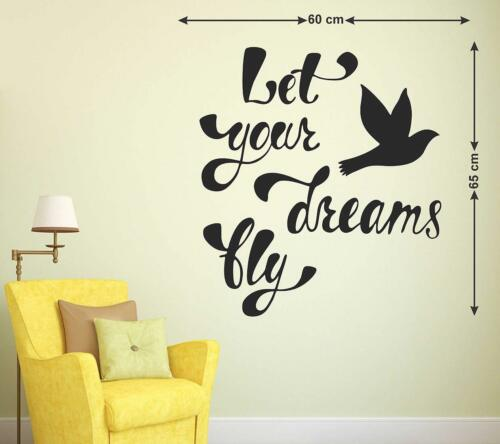 Details about  /Let Your Dreams Fly Wall Sticker Vinyl Art Mural Decal Home Living Room Decor