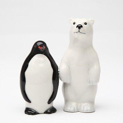 POLAR BEAR OPPOSITES PENGUIN SALT /& PEPPER SHAKERS.NEW